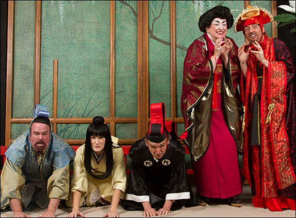 By the way, seriously, who thought this was a good idea? Photo from the performance of The Mikado.